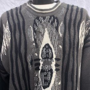 Other - Vintage 90s Sweater with Brown & Tan